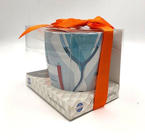 Taza Gracias doctor con caja PVC y Ribbon