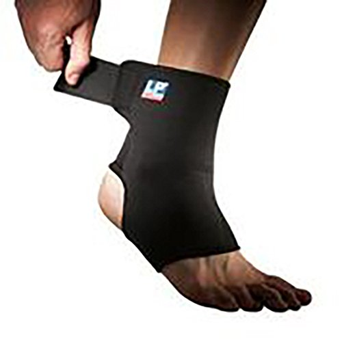 - LP Ankle Support with Strap (Unisex; Black), Small (6-8ins)