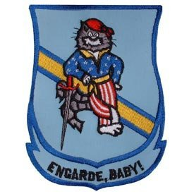 US Navy Fighter Squadron Army Iron on Patch - Tomcat Swordsman Engarde Baby! Applique