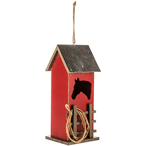 Red Horse Cut-Out Barn Birdhouse