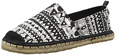 The Sak Women's Sakroots Ella Ballet Flat, Black/Amp/White One World,