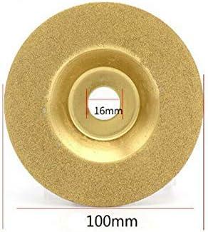 1 disco de diamante de 100 mm, para cortar piedras preciosas, metal, cristal, cerámica, porcelana, azulejos, carburo y rocas.