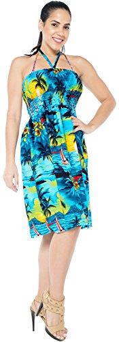 Haut de Femmes Bleu Plage Sundress vtements Turquoise Bain de de Maillots Couvrir u884 Licou Tube de Bain Jupe Maillot Maxi 61AwB1