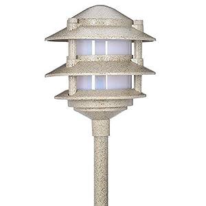 Low Voltage Sand Outdoor Halogen 3-Tier Path Light