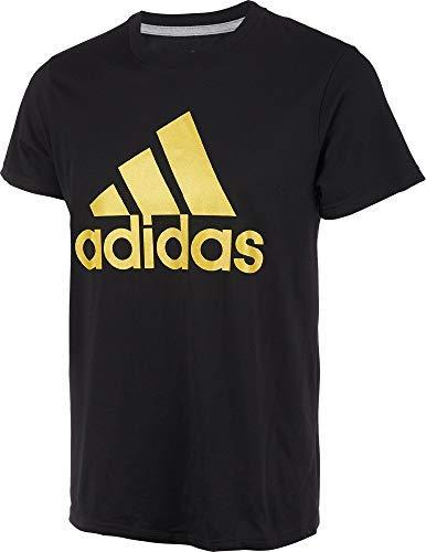 adidas Men's Badge of Sport Classic T-Shirt - Black/Gold Metallic, ()