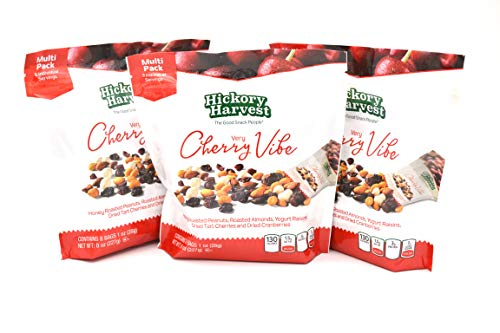 (Healthy Trail Nut Mix Snack Packs, 3 Packs of 8 Bags (1 oz) | Dried Fruit, Roasted Peanuts, Yogurt Raisins, Dried Cherries and Cranberries | Energy Snack | Verry Cherry Vibe)
