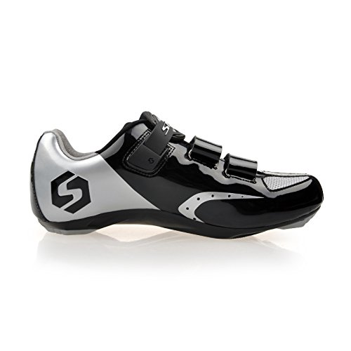 Smartodoors Sidebike Sd002 Mens Scarpe Da Ciclismo Da Strada All-around Con Suola In Nylon Sd01-road-silver / Nero