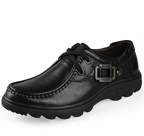 Casual Eu39 39 Barco 44 Cuero Zapatos De Entrenadores nbsp;trabajo Genuino Swnx eu40 Cordones Derby Hombres Tamaño Black Negocios A AYqwna
