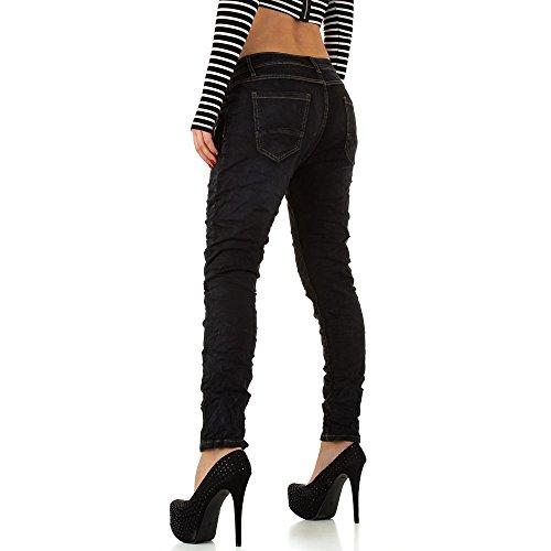 Used Low Boyfriend Skinny Jeans Für Damen , Schwarz In Gr. Xl/42 bei Ital-Design