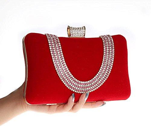 main soirée Prom sac main de Shimmer en Rouge strass à Sac Sac à 5wxZPqgF6q