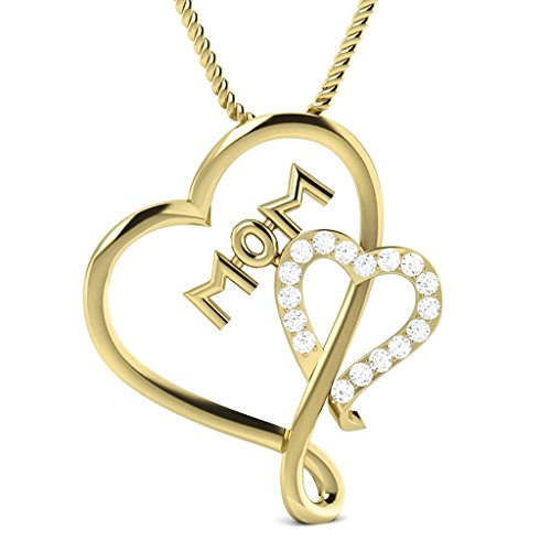 006-carat-natural-real-diamond-mothers-day-special-heart-pendant-14k-yellow-gold-with-free-chain