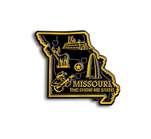 Missouri State Map Magnet (State Shape Flexible Magnet)