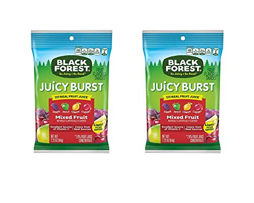 (Black Forest Fruit Snacks with Juicy Burst Centers, Fruit Medley, 2.25 Ounce Bag, Pack of 48 (2 Pack (96 Count)))