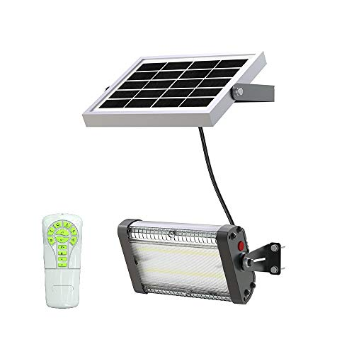 Solar LED Barn Light, 4,000mah Li-ion Battery for Outdoor/Indoor Flood Light with Remote Control, 1,000 Lumen by spc