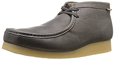 Clarks Men's Stinson Hi Wallabee Boot,Grey Leather,7 M US