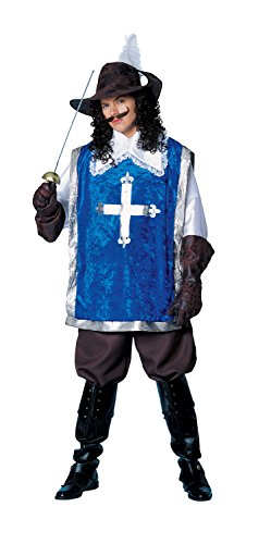 Costume Culture Men's Musketeer Costume, Blue, Standard