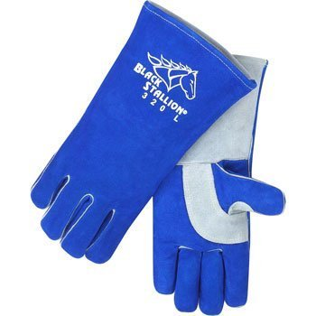 Revco BSX Comfort-Lined Cowhide High-Quality Stick Welding Gloves 320 Large by Black Stallion