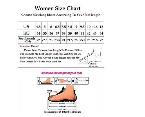 Mujer Ligeros Ysfu Transpirables Casuales De Encaje Para Zapatos Zapatillas Amortiguadores TxRnUqxvE