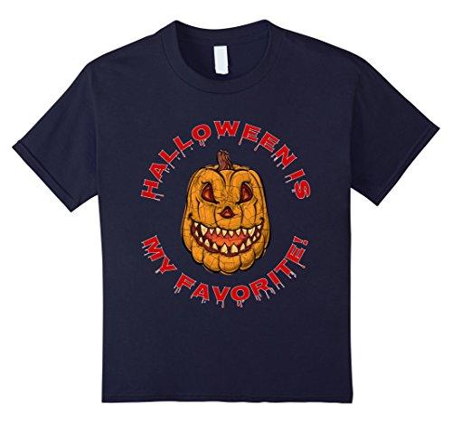 Kids Halloween Is My Favorite T-Shirt! Cool Scary Holiday Tee!    12 Navy (Halloween Is My Favorite Holiday)