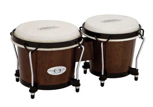 Toca 2100TOB Synergy Wood Bongos - Tobacco Toca Wood