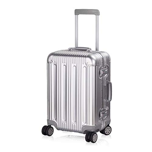 Multi-size All Aluminum Hard Shell Luggage Case Carry On Spinner Suitcase By TravelKing 20