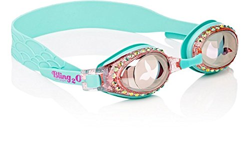 [Swimming Goggles For Girls - Mermaid Kids Swim Goggles By Bling2o (Blue Sushi)] (Red Baron Baby Costume)
