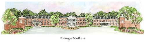 Georgia Southern University - Collegiate Sculptured Ornament by Sculptured Watercolor Ornaments