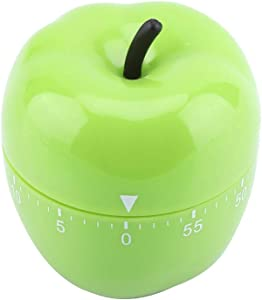 Cute Kitchen Timer, Mechanical Timer, Manual Vegetables/Apple Shape Counters Countdown Timer for Home Cooking Timing Tool