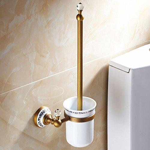 XY&XH Toilet Brush Holder , Antique Brass Toilet Brush Holder by XY&XH