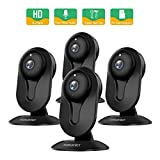 SMONET Wireless IP Camera, HD IP Security Camera Built in Two-Way Audio, Security Surveillance CCTV Camera with Night Vision-Cloud Service Available(4packs,Black) For Sale