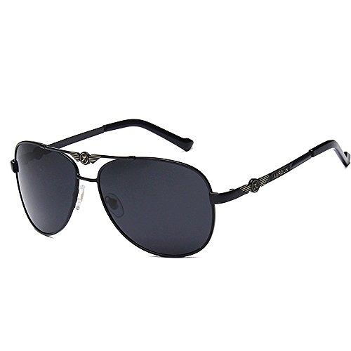 Color Glasses Round Yxsd polarizadas Sun de Oro Retro Frame Unisex Sol Gafas Black Classic Metal pxqxB7