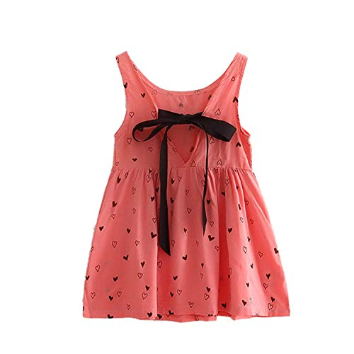dextrad dresses Baby Dress Girl Retro Cotton Blend Blouse Cotton Girl Sleeveless Backless Crocheted Pattern Party Dress Pink 5