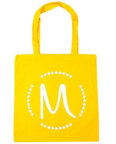 HippoWarehouse M inicial Tote Compras Bolsa de playa 42cm x38cm, 10litros, verde menta (verde) - 13555-TOTE-Mint amarillo