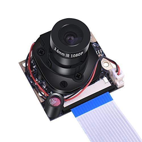 kuman Raspberry Pi 3 B+ Camera Module, 1080P HD 5MP Webcam Ov5647 Sensor IR-Cut Camera Automatic Switching Day/Night Vision Video for Raspberry Pi 3/2/1 Model B/A+