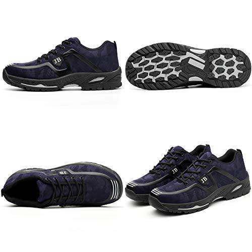 Ligeras Seguridad Transpirables Zapatillas Con Unisex Comodas Hombre De Puntera Acero marino Azul Mujer Antideslizante 500zxqw