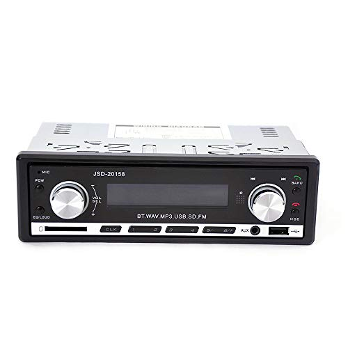 Veepola JSD 20158 Car Single DIN Audio Stereo SD MP3 Player Radio Receiver Bluetooth