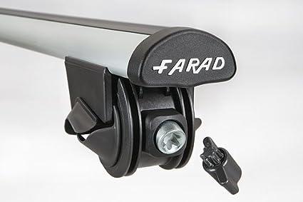 FARAD BARRES DE TOIT EN ALUMINIUM POUR VOITURES AVEC RAILING BAS OU INT/ÉGR/ÉS
