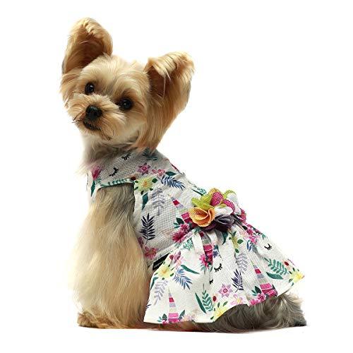 Fitwarm Fairy Unicorn Pet Clothes Dog Dresses Sundress Cat Vest Shirts XS