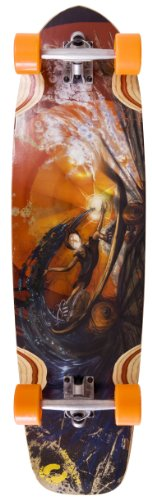 Hang Ten Slider Longboard, Orange, 38-Inch