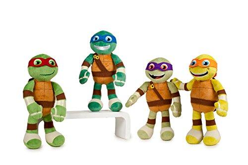Tortugas ninja (Teenage Mutant Ninja Turtles) - Peluche Michelangelo (naranja 32cm) nueva película Half-Shell Heroes, Qualidad super soft - naranja -