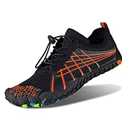 Feifan Men Women Water Swim Shoes Lightweight Quick Dry Barefoot Flexible Beach Swim Yoga Shoes Black 41