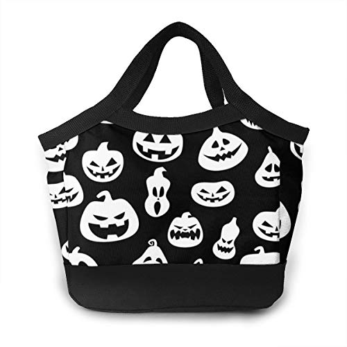 (JHNDKJS Halloween with Pumpkins Lunch Bag Insulated Lunch Box Cooler Bag for Women Men Adults Work)