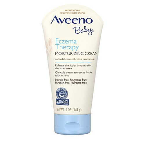 - Aveeno Baby Eczema Therapy Moisturizing Cream with Natural Colloidal Oatmeal for Eczema Relief, 5 oz