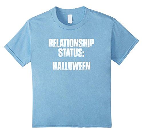 Kids Relationship Status: Halloween T Shirt Funny Sarcastic Sayin 8 Baby Blue