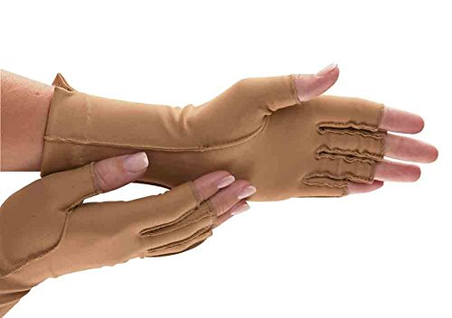 Isotoner Therapeutic Gloves, Open Finger, Large by AliMed