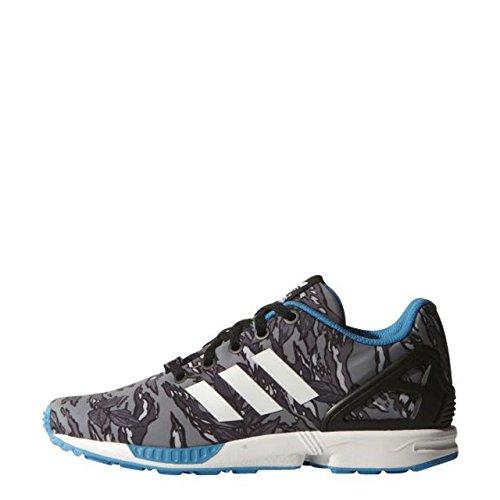 Zapatillas Adidas ZX Flux Estampadas Azul-Blanco-Gris