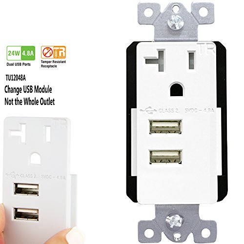 TOPGREENER TU12048A 4 8A 24W High Speed Receptacle product image