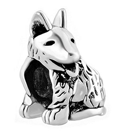 German Shepherd Dog Charm (JewelryHouse Dog Pet Animal Bead Charms For Bracelets (German Shepherd Dog))