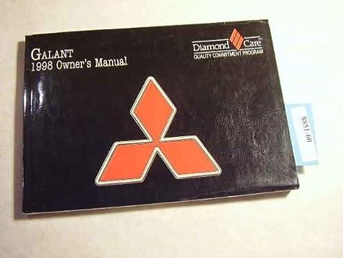1998 mitsubishi galant owners manual mitsubishi amazon com books rh amazon com 1998 Mitsubishi Galant Interior 1998 mitsubishi galant service manual