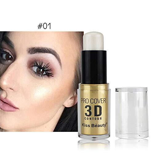 Face Beauty Makeup Foundation Highlighter Concealer Cream Shimmer Illuminating Stick Contour Bronzing ()